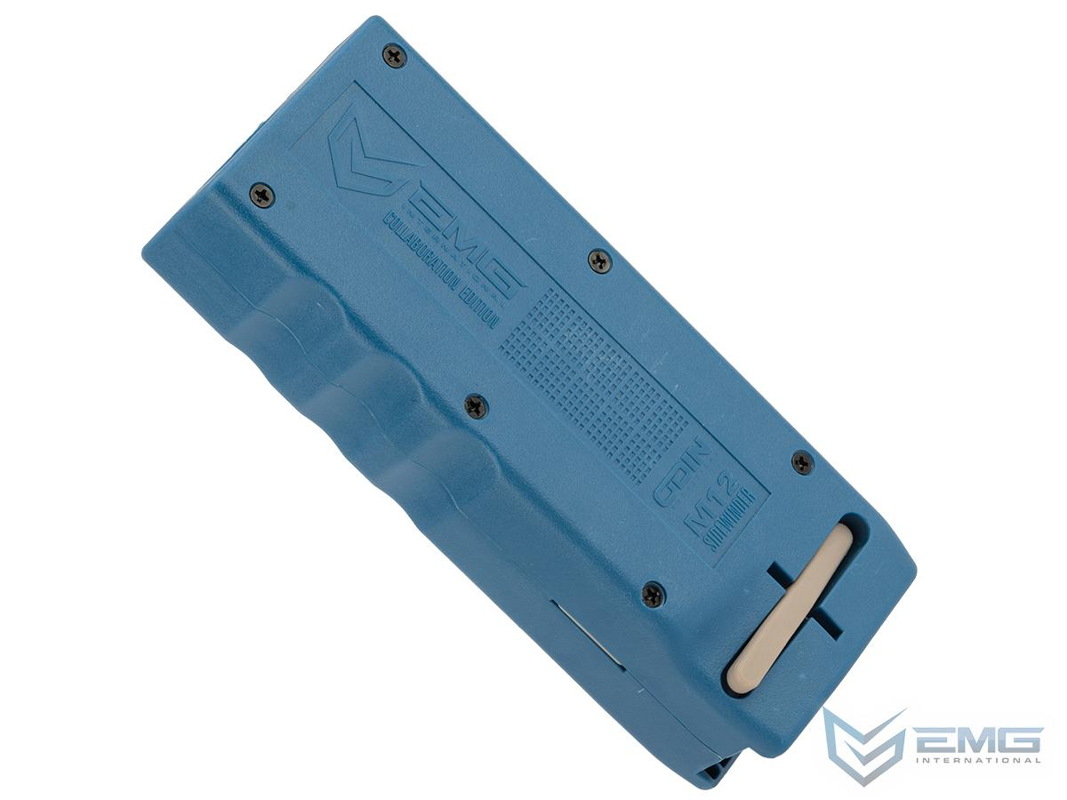 EMG Odin Innovations M12 Sidewinder Speed Loader with M12 Sound-Dampening Buffer (Color: Drama-Free Blue Special Edition)