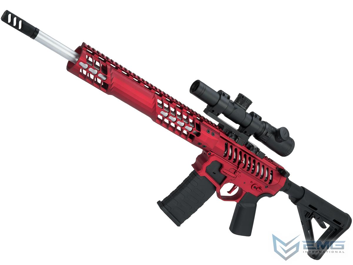 EMG F-1 Firearms BDR-15 3G AR15 2.0 eSilverEdge Full Metal Airsoft AEG Training Rifle (Model: Red / Magpul 350 FPS)