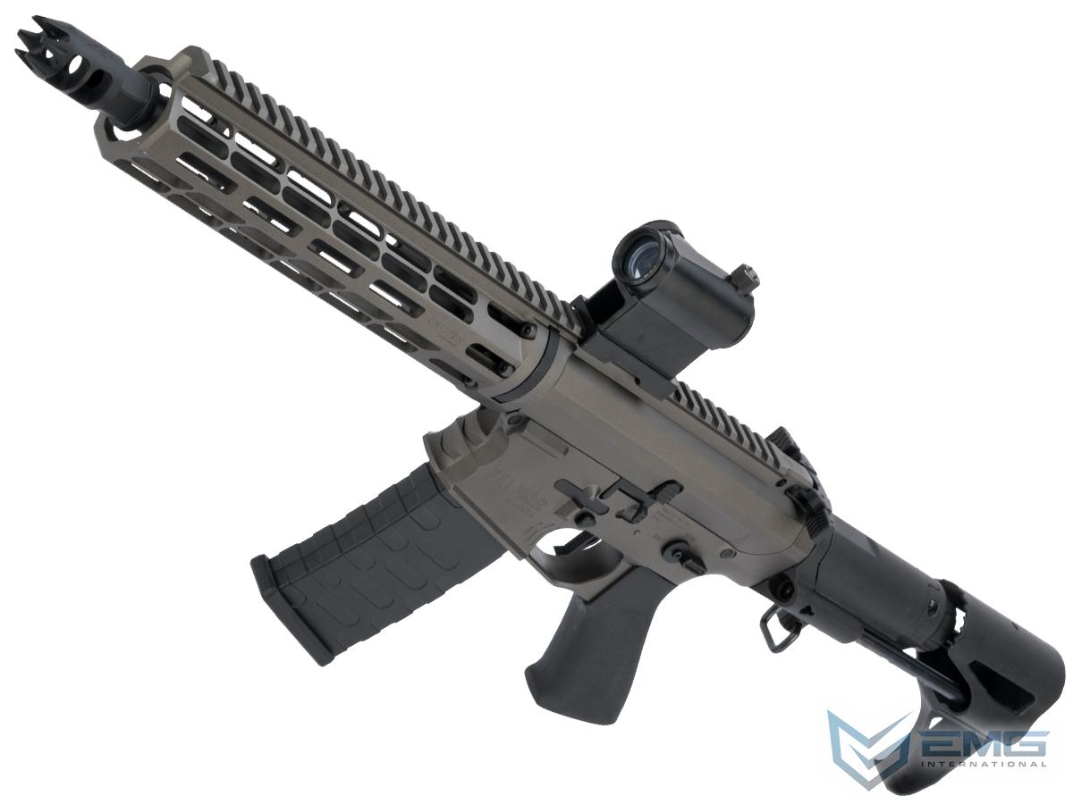 EMG Falkor Blitz Compact M4 w/ eSilverEdge Gearbox Airsoft AEG Training Rifle (Color: Falkor Grey / CRS Stock / 350 FPS)