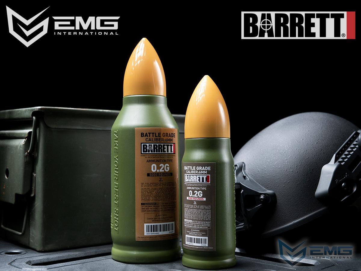 EMG Barrett Licensed Battle Grade 6mm Airsoft BBs (Type: 0.20g / 2000rd)