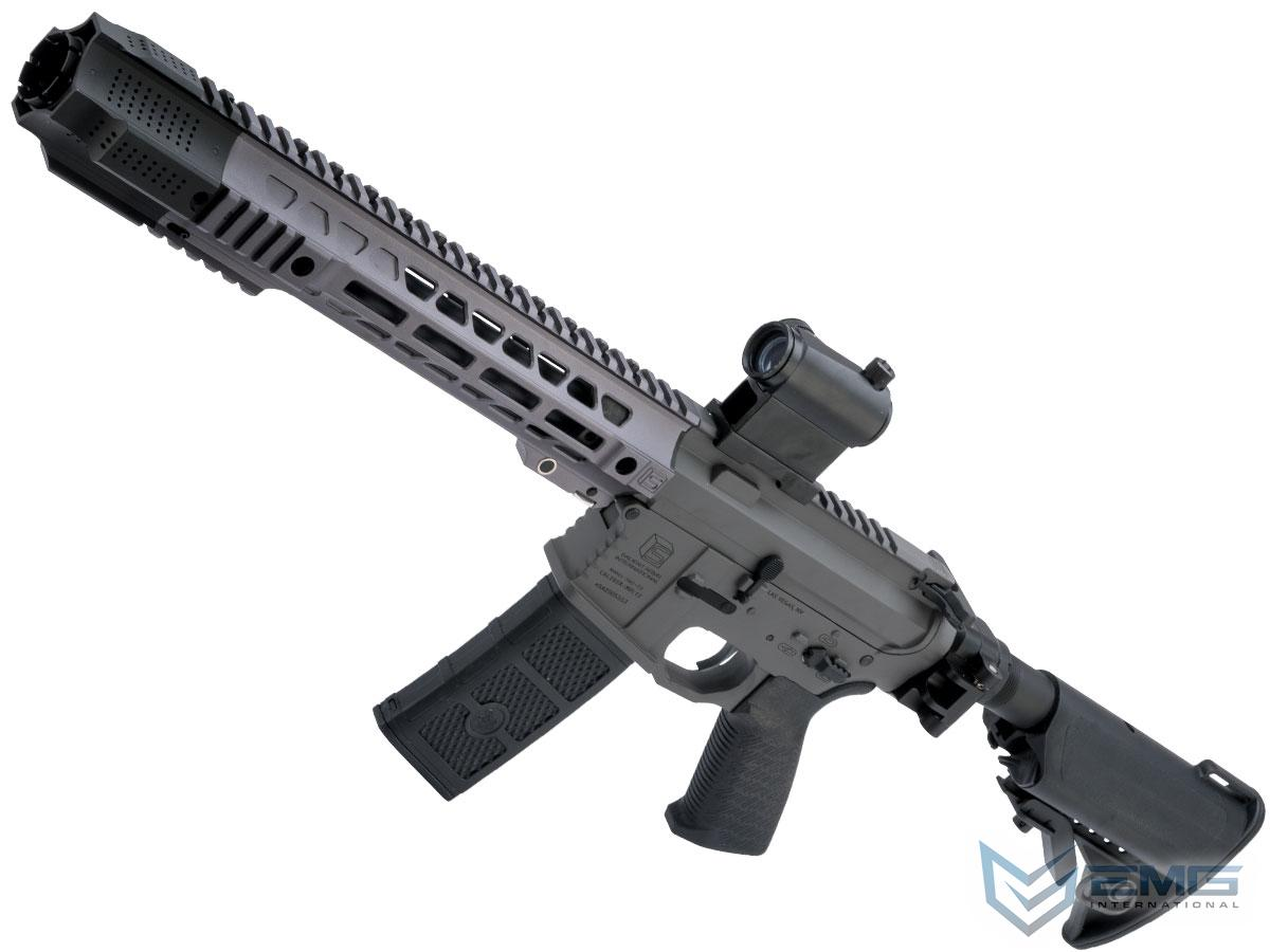EMG SAI GRY Gen. 1 Billet Style Receiver AEG Training Rifle w/ JailBrake Muzzle and Folding Stock (Model: i5 Gearbox / SBR / Grey)
