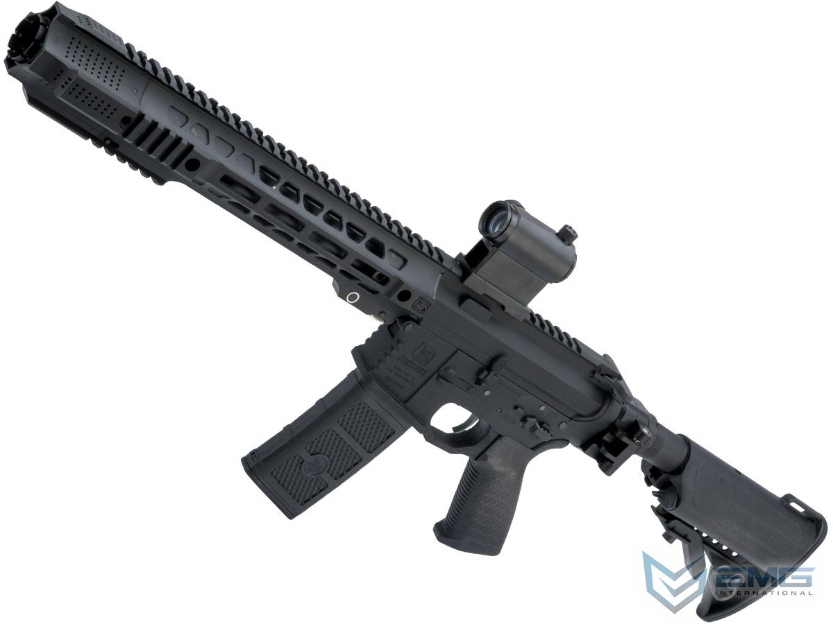 EMG SAI GRY Gen. 1 Billet Style Receiver AEG Training Rifle w/ JailBrake Muzzle and Folding Stock (Model: i5 Gearbox / SBR / Black)