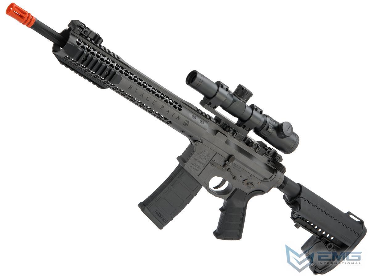EMG Black Rain Ordnance BRO SPEC15 Licensed AR-15 Airsoft AEG Rifle (Color: Grey / Carbine)