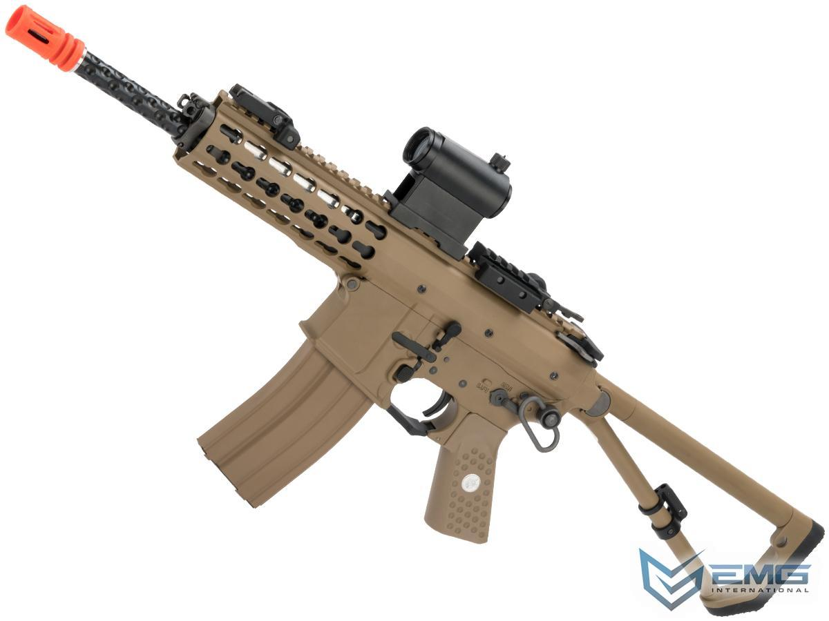 EMG Knights Armament Airsoft PDW M2 Gas Blowback Airsoft Rifle (Model: Tan with Green Gas Magazine)