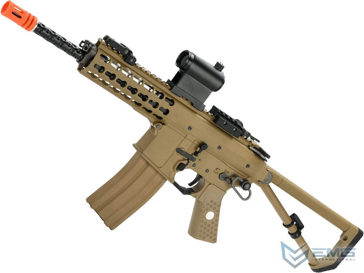 EMG Knights Armament Airsoft PDW M2 Gas Blowback Airsoft Rifle  (Model: Tan with CO2 Magazine)