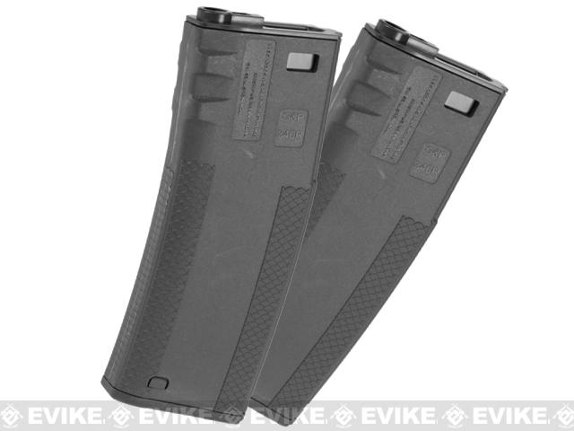 EMG TROY Industry Licensed 340rd Battle Magazine for M4 Series Airsoft AEG Rifles (Color: Black / Pack of 2)