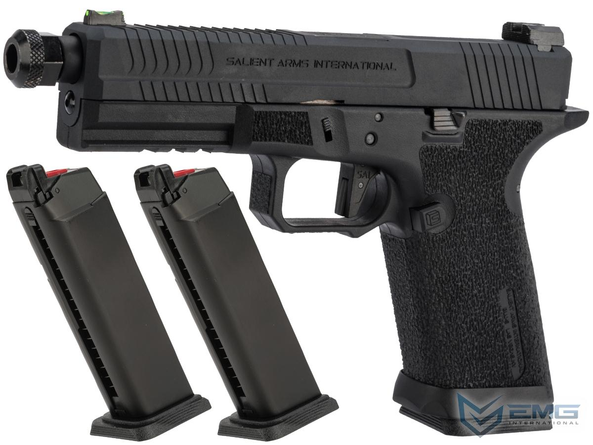 EMG Salient Arms International BLU Airsoft Training Weapon (Model: Blackout w/ Green Gas Mag / Reload Package)