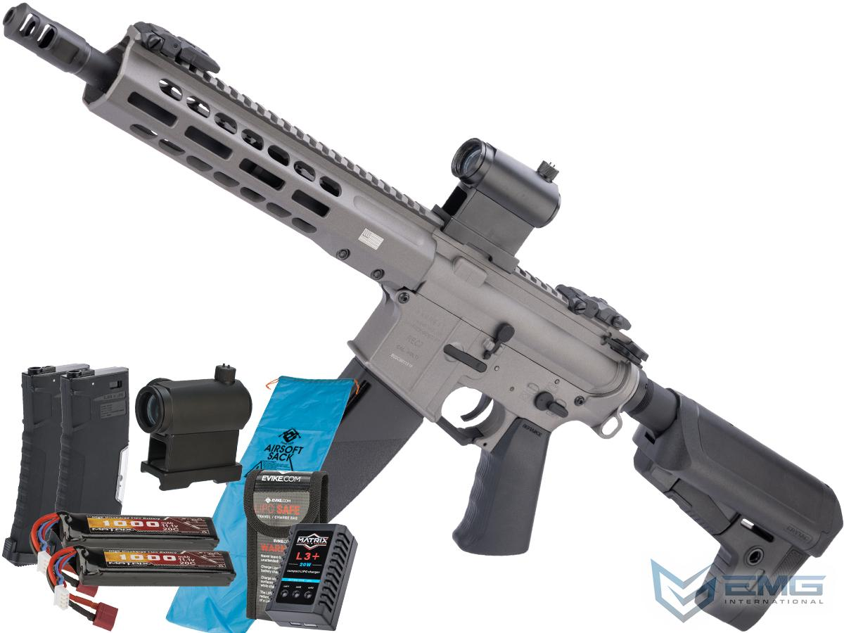 Pre-Order ETA January 2021 EMG / KRYTAC / BARRETT Firearms REC7 DI AR15 AEG Training Rifle (Length: SBR / Tungsten / 350 FPS Go Airsoft Package)