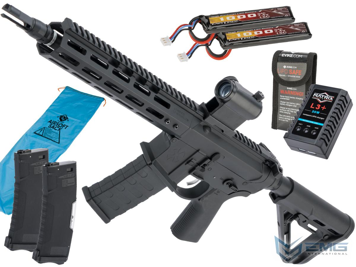 Pre-Order ETA January 2021 EMG NOVESKE Gen 4 w/ eSilverEdge SDU2.0 Gearbox Airsoft AEG Training Rifle (Model: Shorty / Black / Go Airsoft Package)