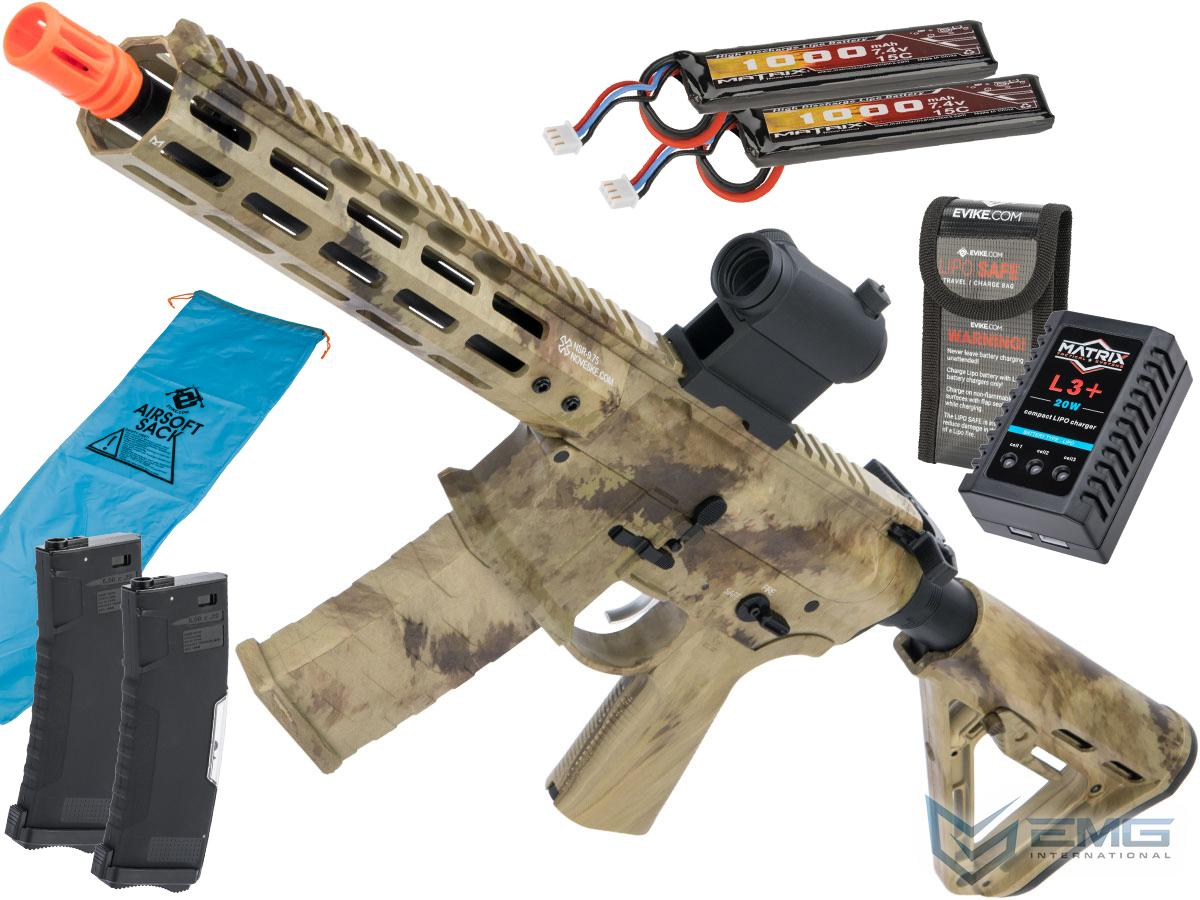 Pre-Order ETA January 2021 EMG NOVESKE Gen 4 w/ eSilverEdge SDU2.0 Gearbox Airsoft AEG Training Rifle (Model: Shorty / ATACS AU / Go Airsoft Package)