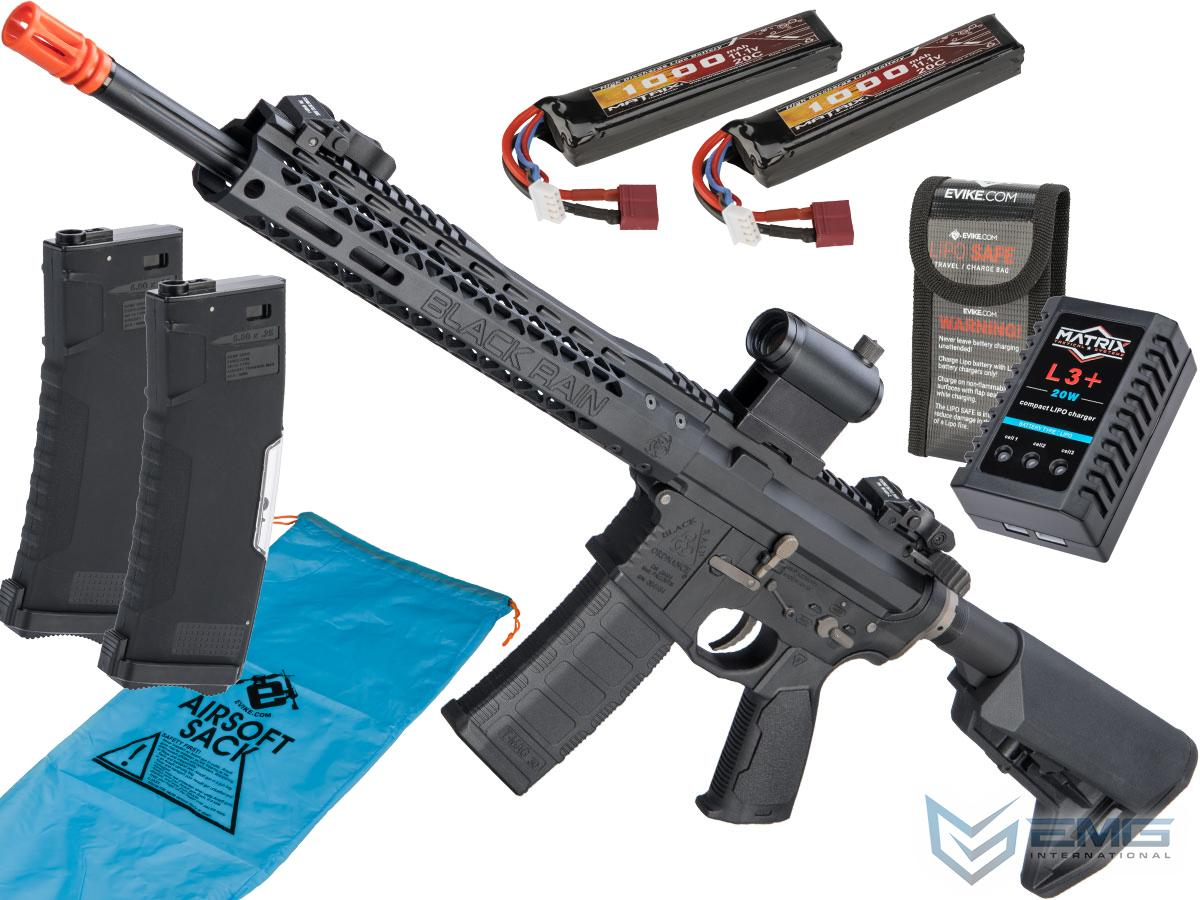 Pre-Order ETA January 2021 EMG Black Rain Ordnance BRO SPEC15 Licensed AR-15 Airsoft AEG Rifle w/ M-LOK Handguard (Color: Black / Carbine / Go Airsoft Package)