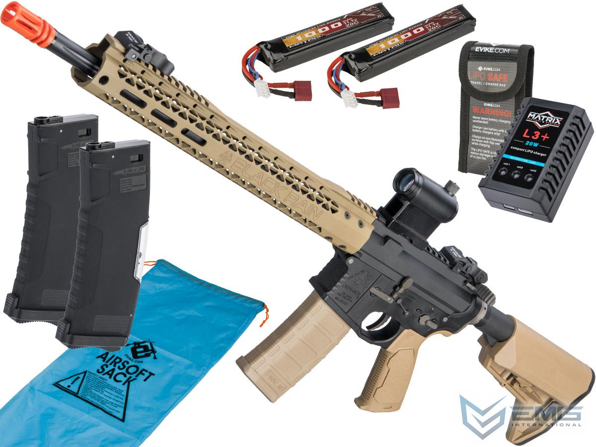 Pre-Order ETA January 2021 EMG Black Rain Ordnance BRO SPEC15 Licensed AR-15 Airsoft AEG Rifle w/ M-LOK Handguard (Color: Dark Earth / Rifle / Go Airsoft Package)