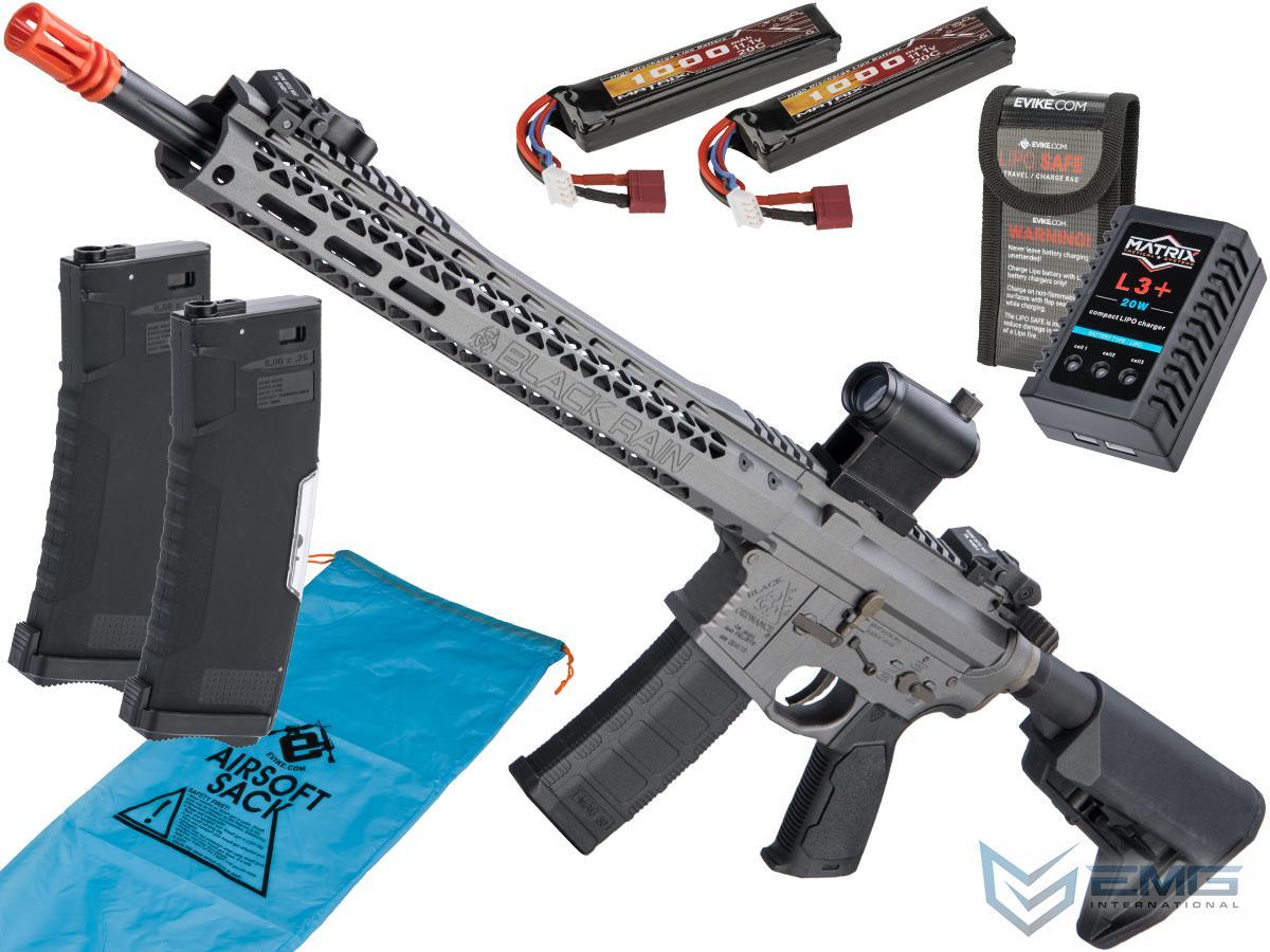 Pre-Order ETA January 2021 EMG Black Rain Ordnance BRO SPEC15 Licensed AR-15 Airsoft AEG Rifle w/ M-LOK Handguard (Color: Grey / Rifle / Go Airsoft Package)
