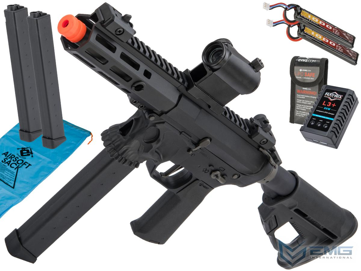 Helios / Sharps Bros Licensed Jack9 Polymer Receiver Advanced EFCS Pistol Caliber Carbine Airsoft AEG (Model: M-LOK / PDW / Black / Go Airsoft Package)
