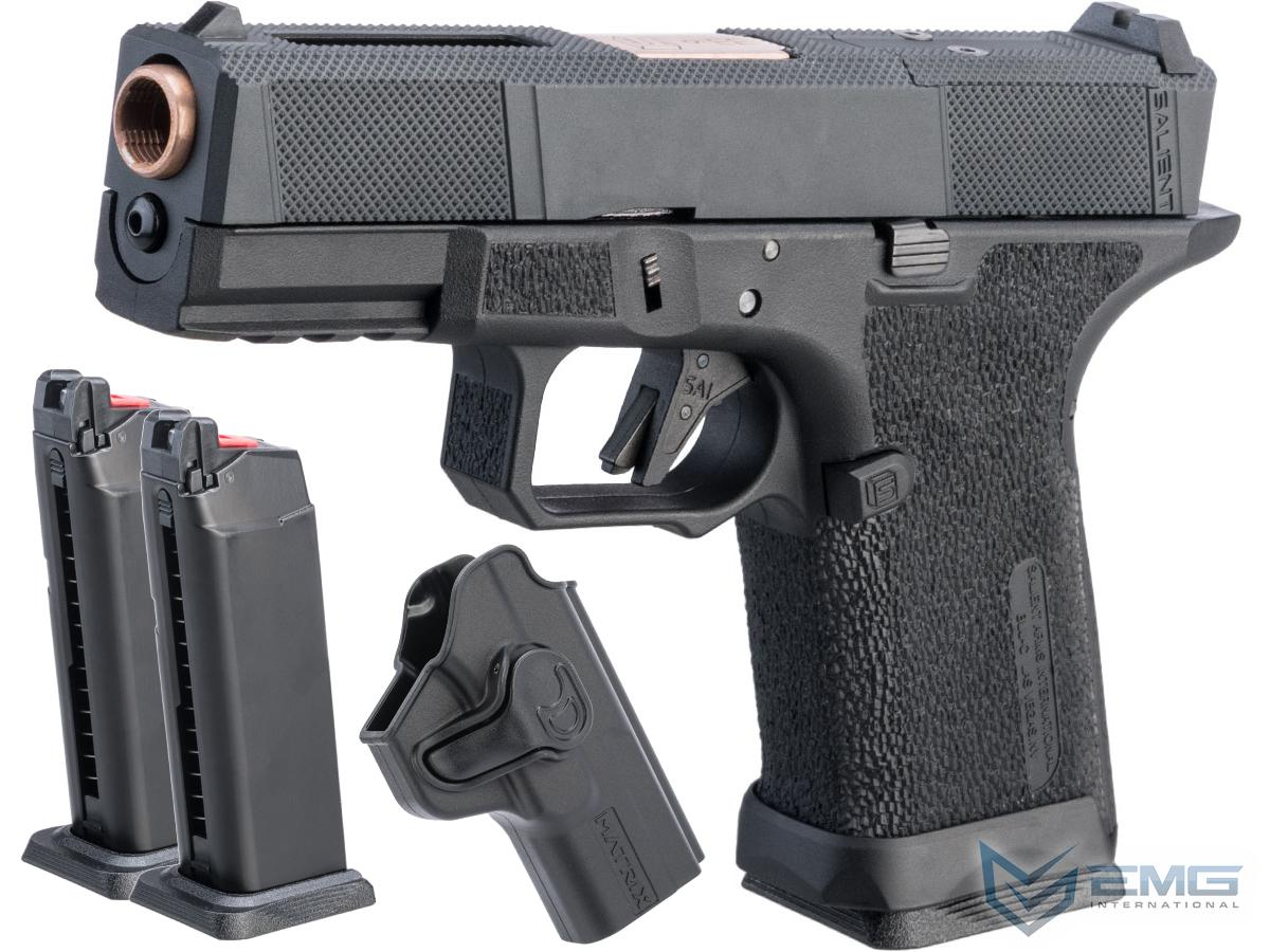 EMG SAI BLU Compact w/ EMG Tier One Utility RMR-Cut Slide GBB Airsoft Pistol (Color: Rose Gold / Carry Package)