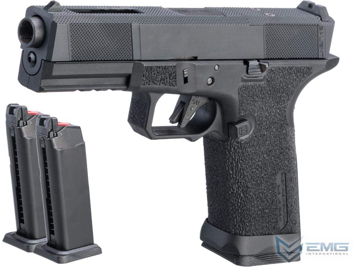 EMG SAI BLU w/ EMG Tier One Utility RMR-Cut Slide GBB Airsoft Pistol (Color: Blackout / Reload Package)