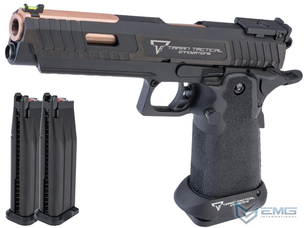 EMG TTI Licensed JW3 2011 Combat Master Airsoft Training Pistol w/ Custom Island Barrel (Model: Green Gas / Reload Package)
