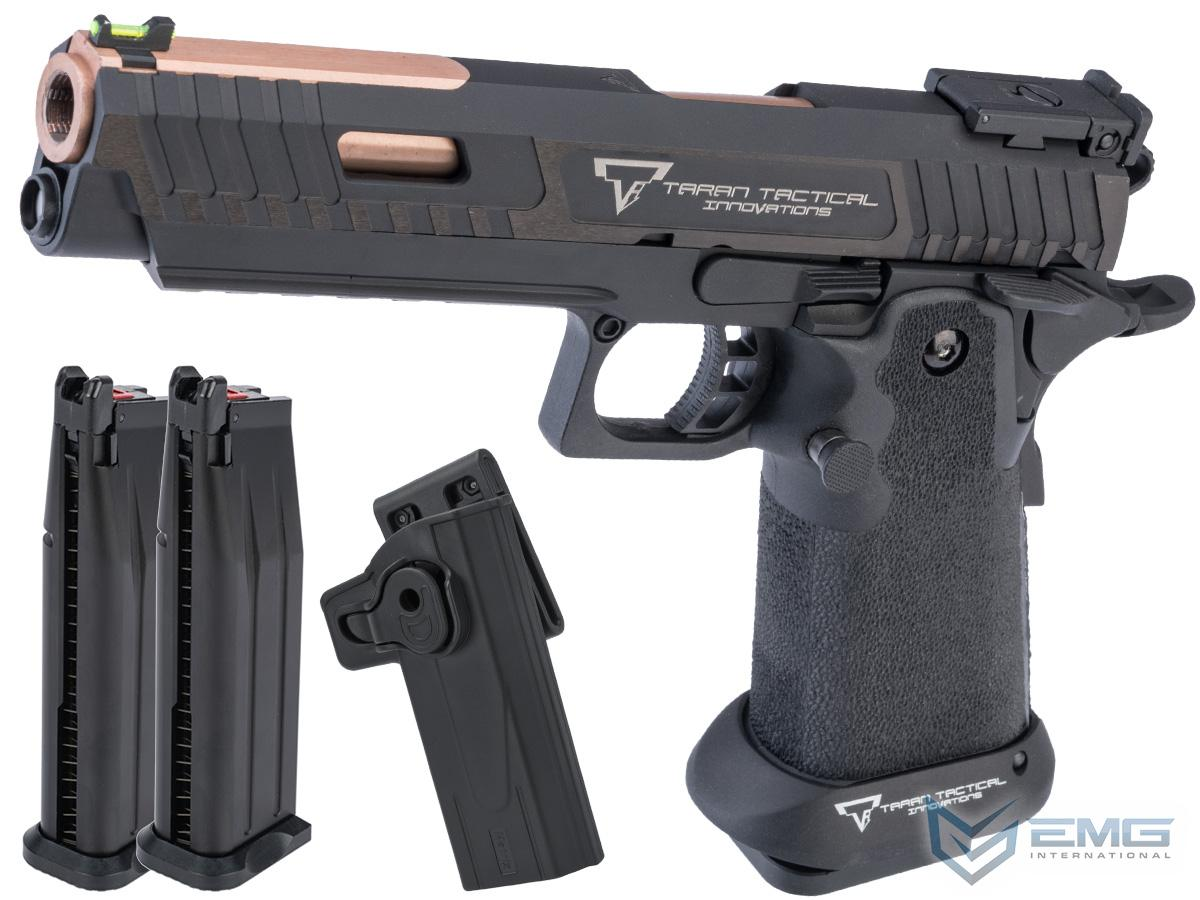 EMG TTI Licensed JW3 2011 Combat Master Airsoft Training Pistol w/ Custom Island Barrel (Model: Green Gas / Carry Package)