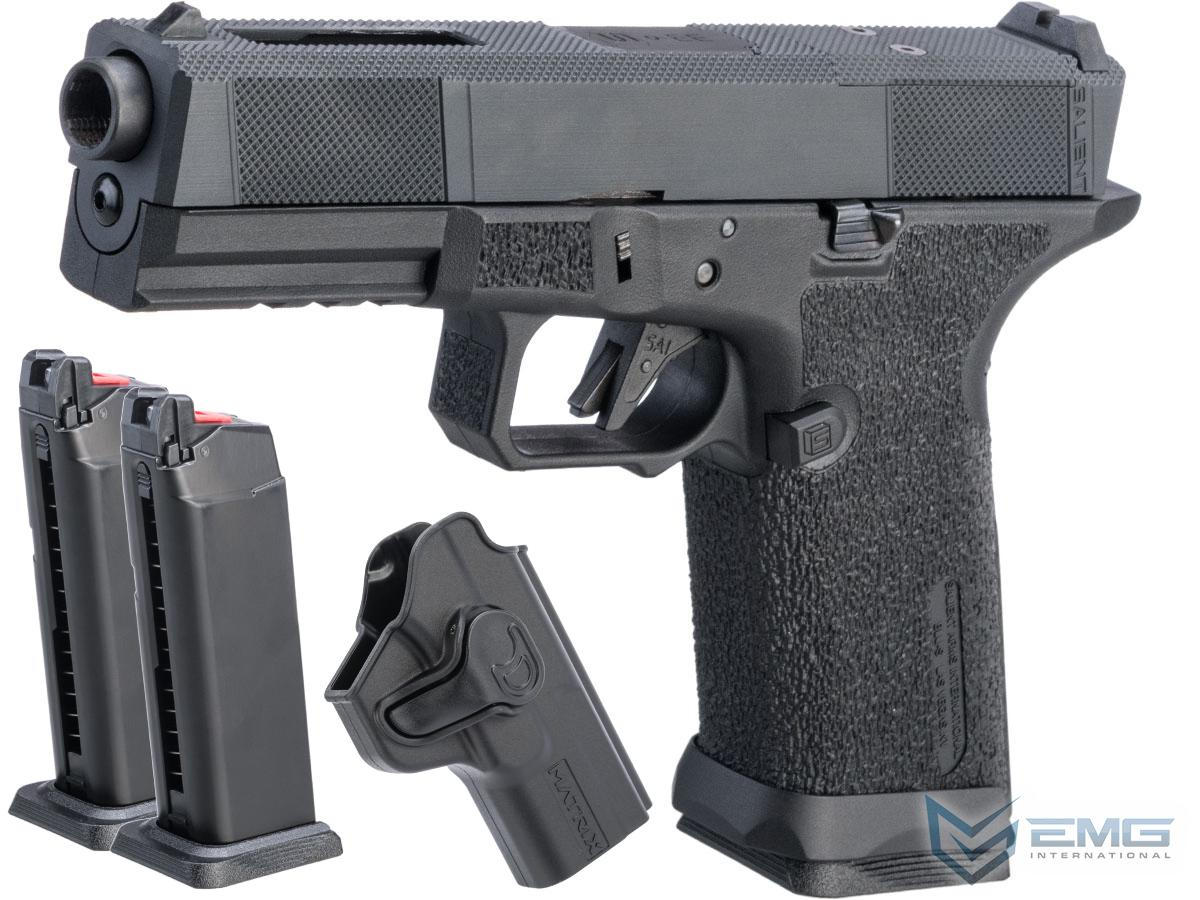 EMG SAI BLU w/ EMG Tier One Utility RMR-Cut Slide GBB Airsoft Pistol (Color: Blackout / Carry Package)