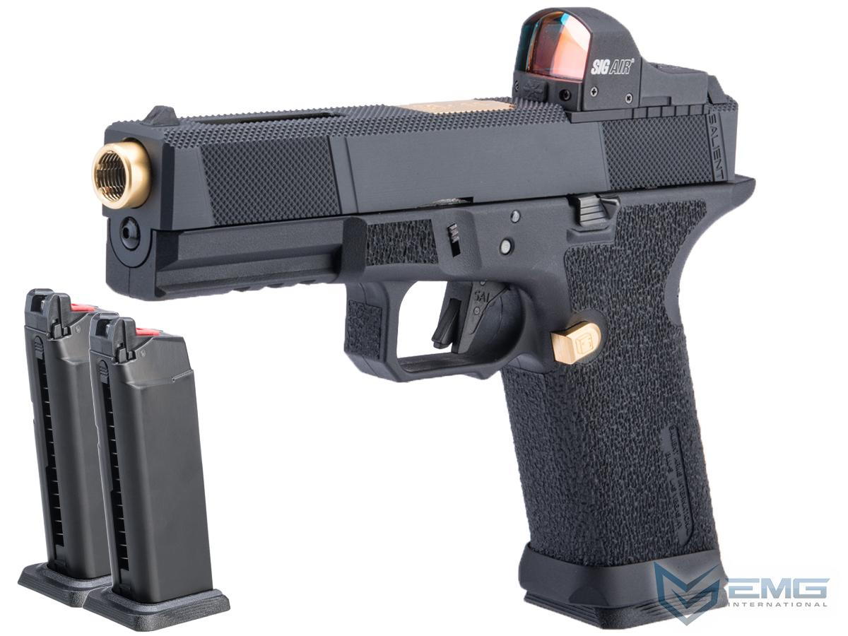 EMG SAI BLU w/ EMG Tier One Utility RMR-Cut Slide GBB Airsoft Pistol (Color: Gold / Competition Package)