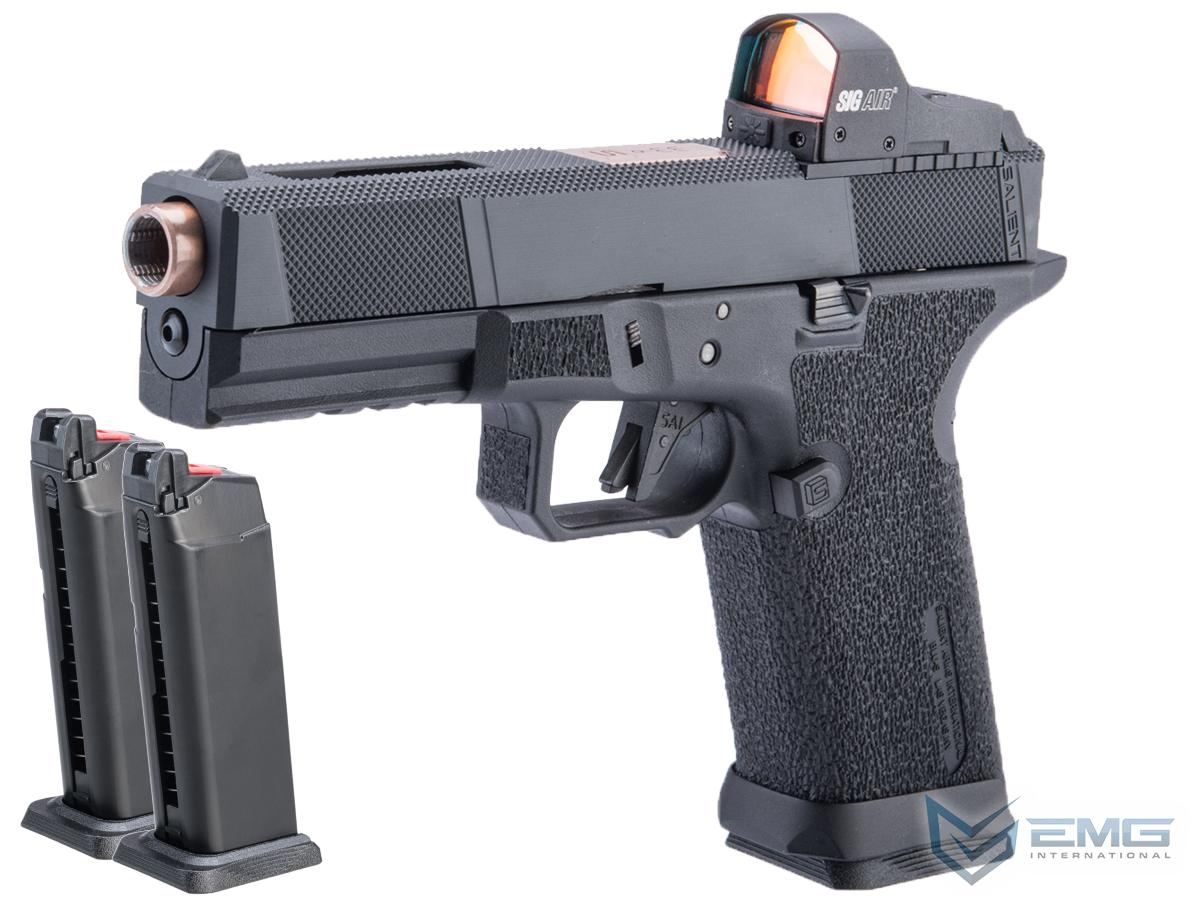 EMG SAI BLU w/ EMG Tier One Utility RMR-Cut Slide GBB Airsoft Pistol (Color: Rose Gold / Competition Package)