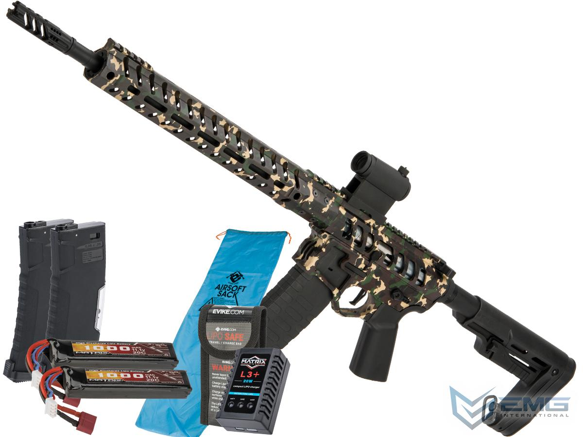 Demolition Ranch UDR-15 AR15 Airsoft AEG Training Rifle by EMG / F-1 Firearms (Model: Standard / eSE / Go Airsoft Package)