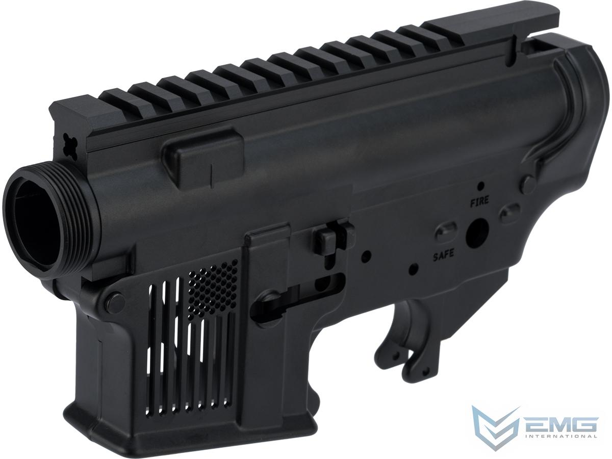 EMG F-1 Firearms Skeletonized FDR-15 Forged Receiver for Gas Blowback Airsoft Rifles by RA-Tech (System: GHK / Black)