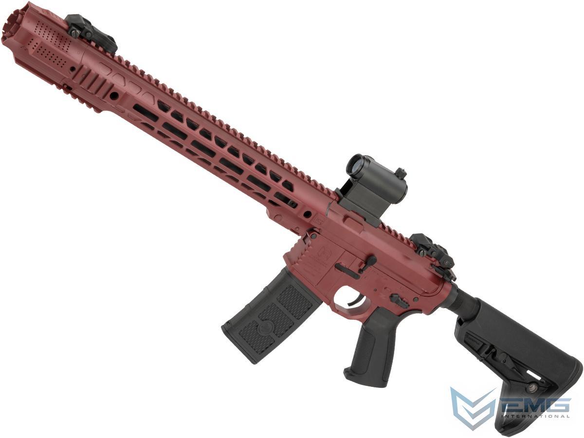 EMG Custom Cerakote SAI GRY Training Weapon M4 Airsoft AEG Rifle (Configuration: Carbine / Blood Red)