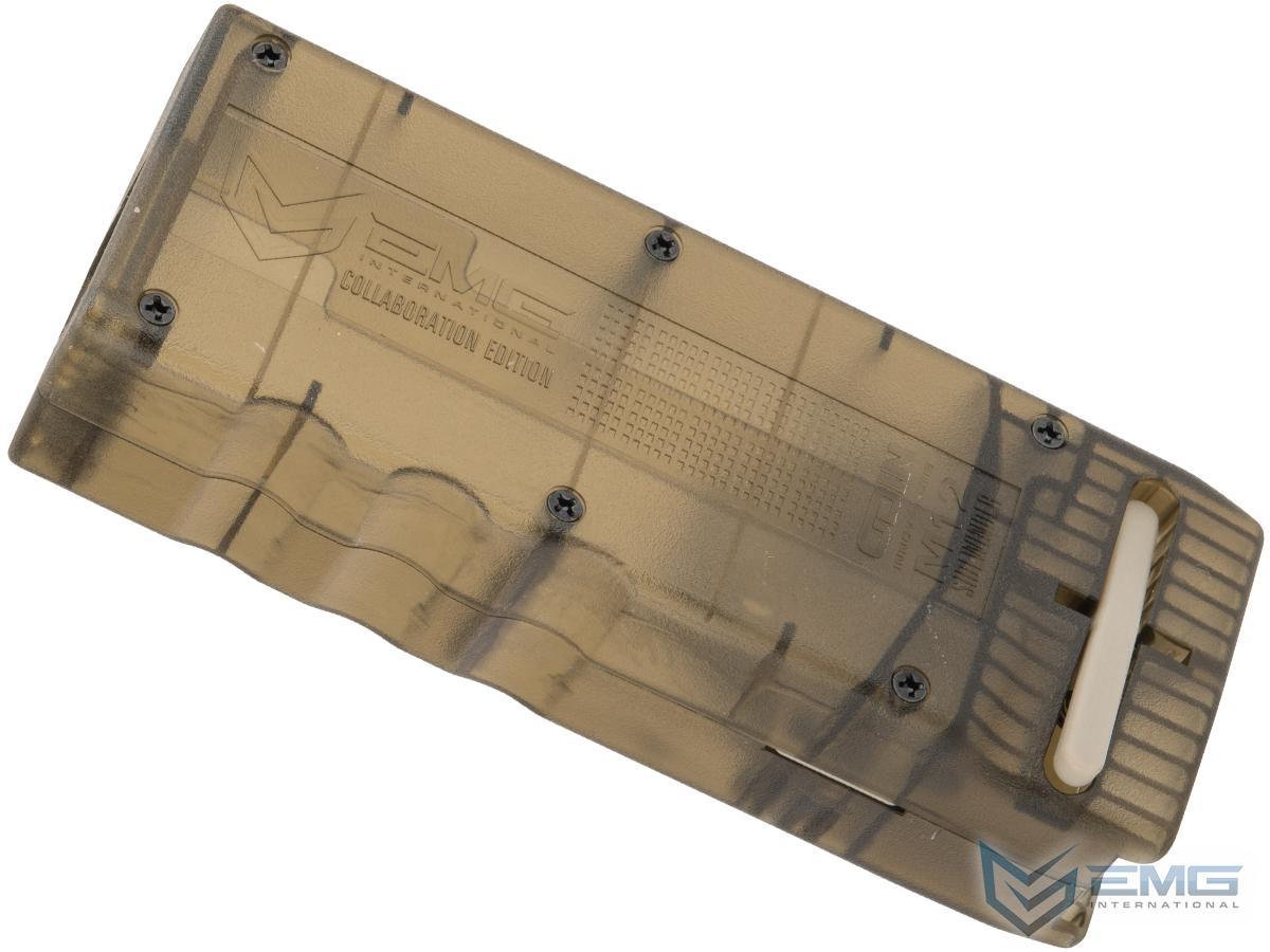 EMG Odin Innovations M12 Sidewinder Speed Loader  with M12 Sound-Dampening Buffer (Color: EMG Gunsmoke Grey)