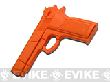 Master Cutlery Full Size Rubber Training Pistol (Color: Orange)