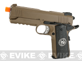 Evike.com Nostradamus Custom 1911 4.3 Desert Warrior Gas Blowback Airsoft Pistol with Angel Custom Tac-Glove Grips (Sign: Pisces)