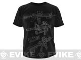 z 5.11 Tactical AR Sketch T-shirt - Black / X-Large