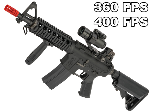Colt Licensed AR-15 M4 CQB-R Airsoft AEG Rifle w/ Lipo Ready Gearbox by King Arms