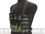 High Speed Operator Chest Rig w/ SMG Mag Pouch - Digital Woodland
