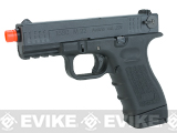ISSC Licensed M-22 Full Metal Airsoft GBB Gas Blowback Pistol by WE (Color: Black / CO2 Magazine)