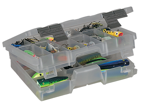 Plano Guide Series� Stowaway� Utility / Storage / Organizer Box (Model: Medium Two-Tiered 3600 / Smoke)