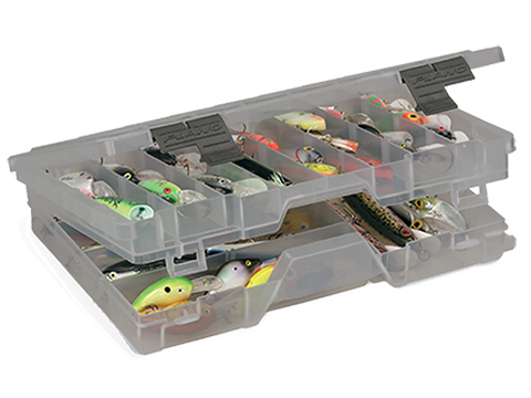 Plano Guide Series� Stowaway� Utility / Storage / Organizer Box (Model: Large Two-Tiered 3700 / Smoke)