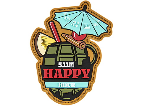 5.11 Tactical Happy Hour Hook & Loop PVC Morale Patch