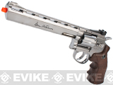 z ASG Licensed Dan Wesson WG CO2 Full Metal  High Power Airsoft 6mm Magnum Gas Revolver (Length: 8 / Silver / Brown Grip)