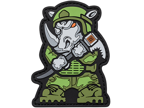 5.11 Tactical Rhino Breacher Hook & Loop PVC Morale Patch