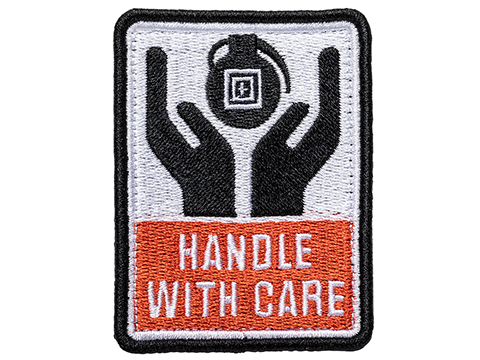 5.11 Tactical Handle With Care Hook & Loop Embroidered Morale Patch