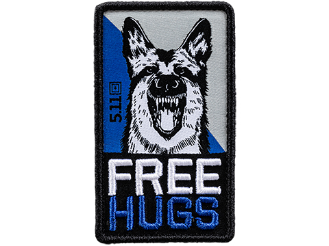 5.11 Tactical Free Hugs Hook & Loop Embroidered Morale Patch