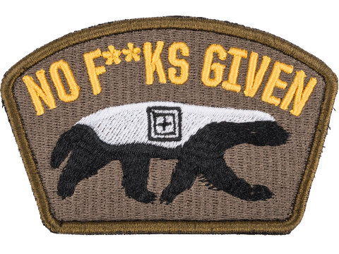 5.11 Tactical Honey Badger Hook & Loop Embroidered Morale Patch