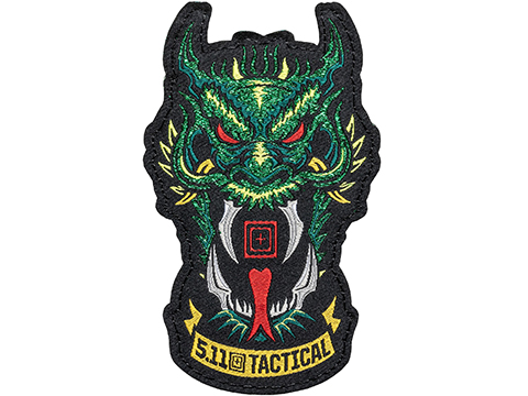 5.11 Tactical Green Dragon Hook & Loop Embroidered Morale Patch