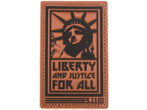 5.11 Tactical Liberty and Justice Hook & Loop Leather Morale Patch