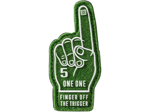 5.11 Tactical Finger Off Trigger Embroidered Morale Patch