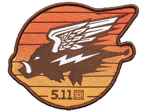 5.11 Tactical Flying Hog Embroidered Morale Patch