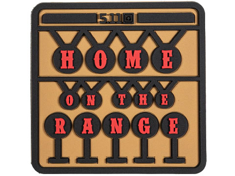 5.11 Tactical Home On The Range Hook & Loop PVC Morale Patch