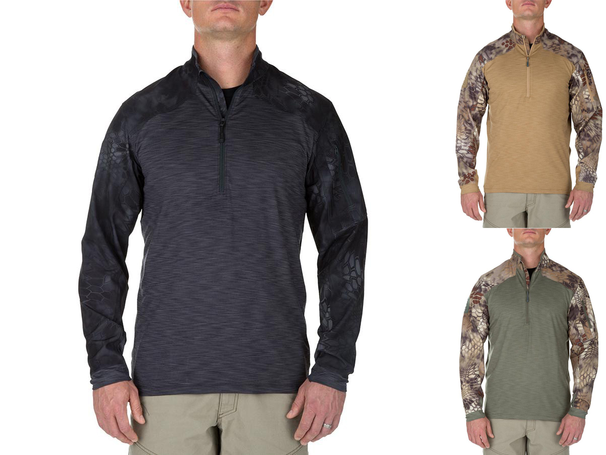 5.11 Tactical Rapid Half Zip Combat Shirt with Kryptek Sleeves