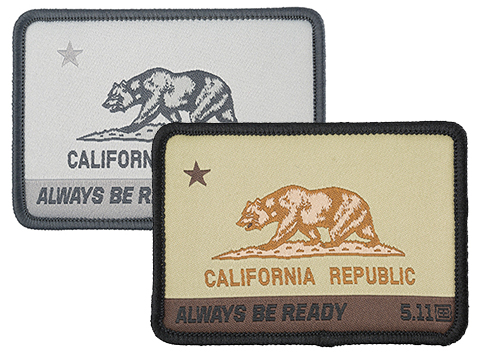 5.11 Tactical CA State Bear Embroidered Morale Patch
